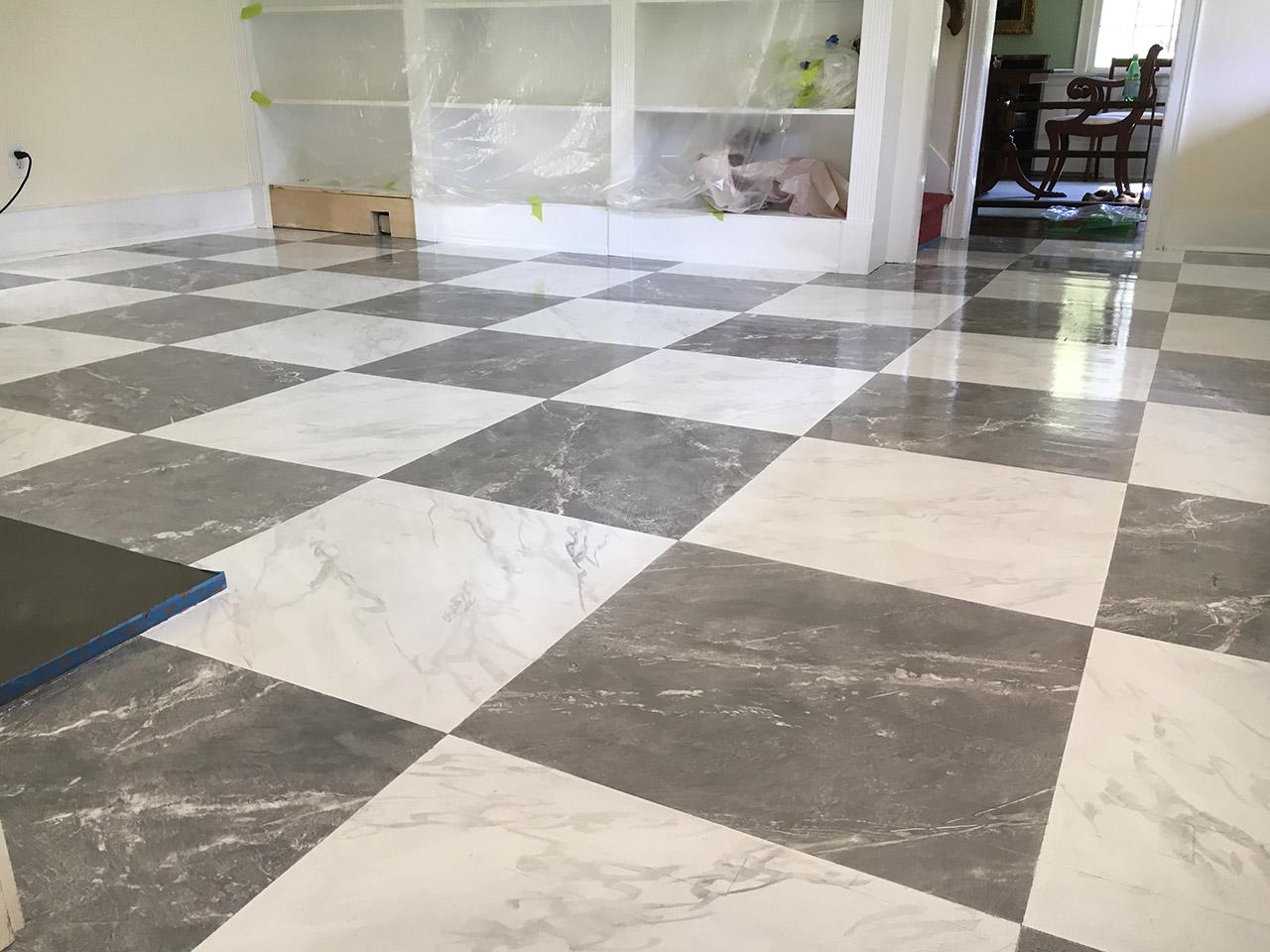Faux Marble Floor Tiles
