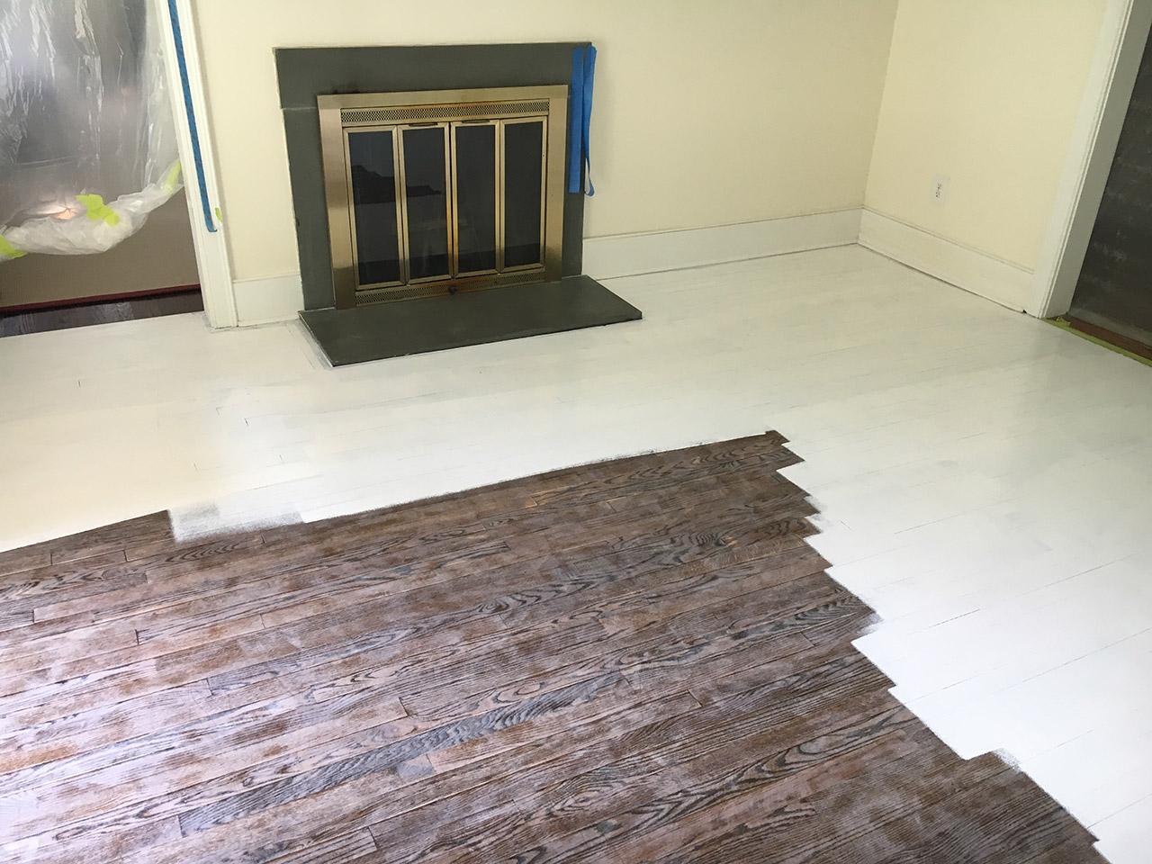 Priming the wood floor