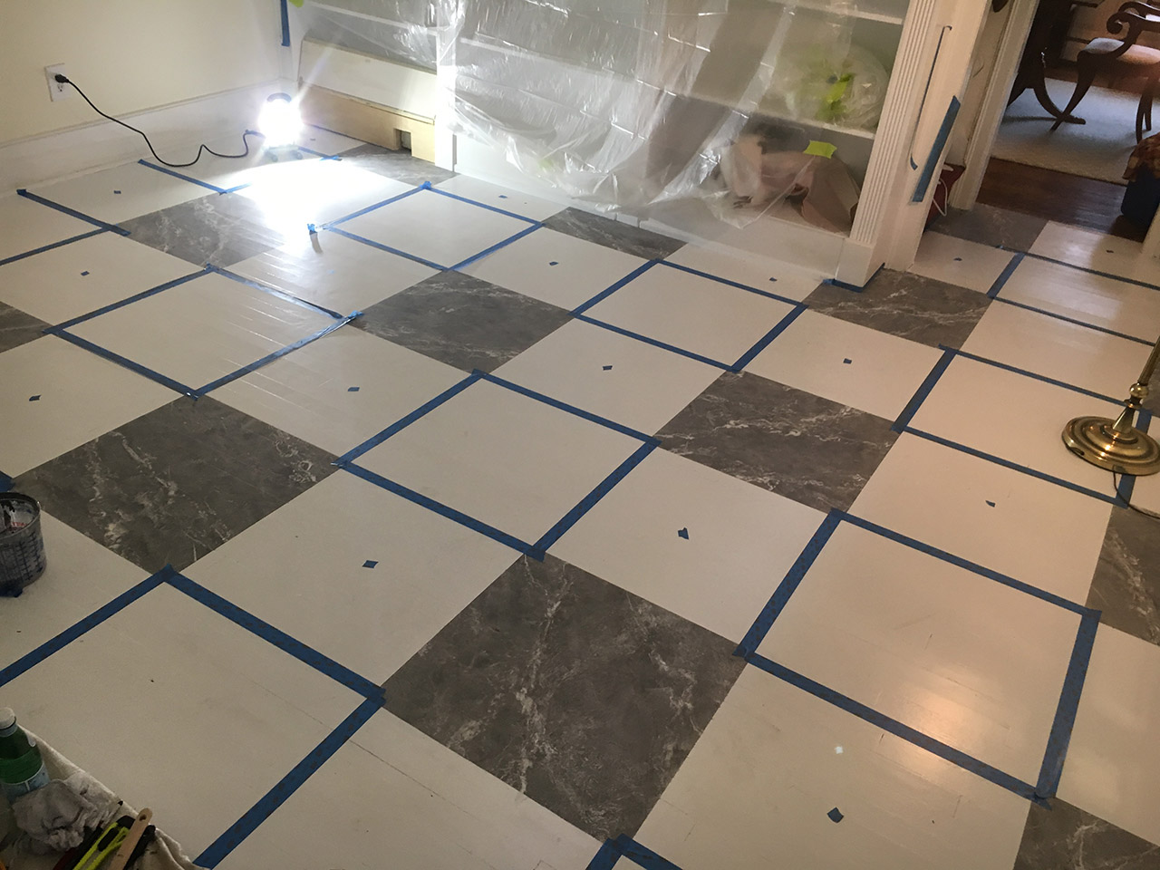 Masking out the light tiles